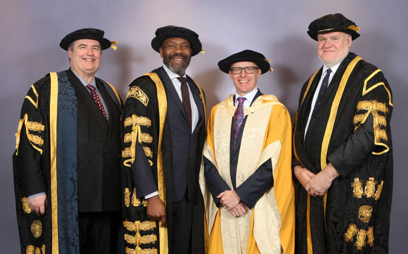 Vice Chancellor - Professor Philip Plowden, Chancellor Sir Lenny Henry, Dr Roger Smith OBE, The Pro-Chancellor of the University Mr Mark Hopton (Pro-Chancellor and Chairman of the Board of Governors)